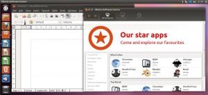 Ubuntu Writer und Softwarecenter