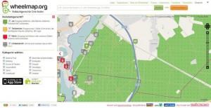 Wheelmap - Rollstuhlgerechte Orte finden