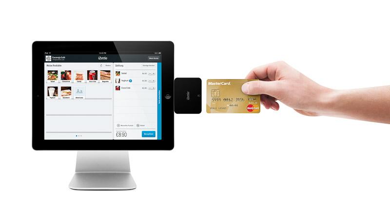 Zahlung mit iPad