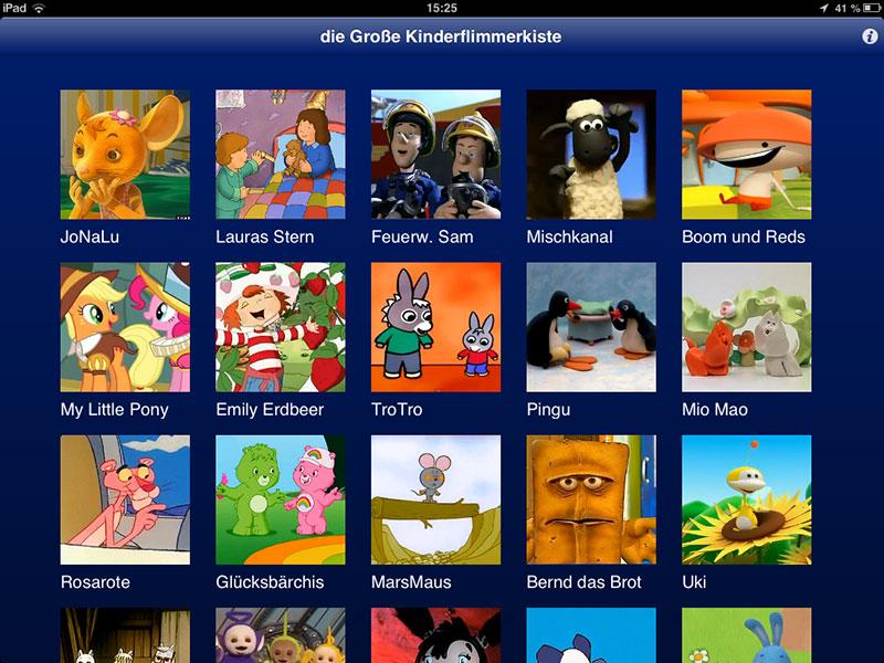 Flimmerkiste App iPad