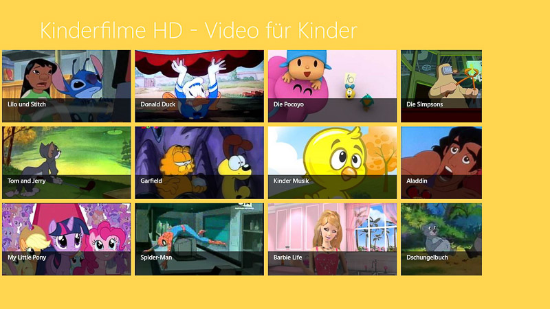 Windows Kinderfilme App