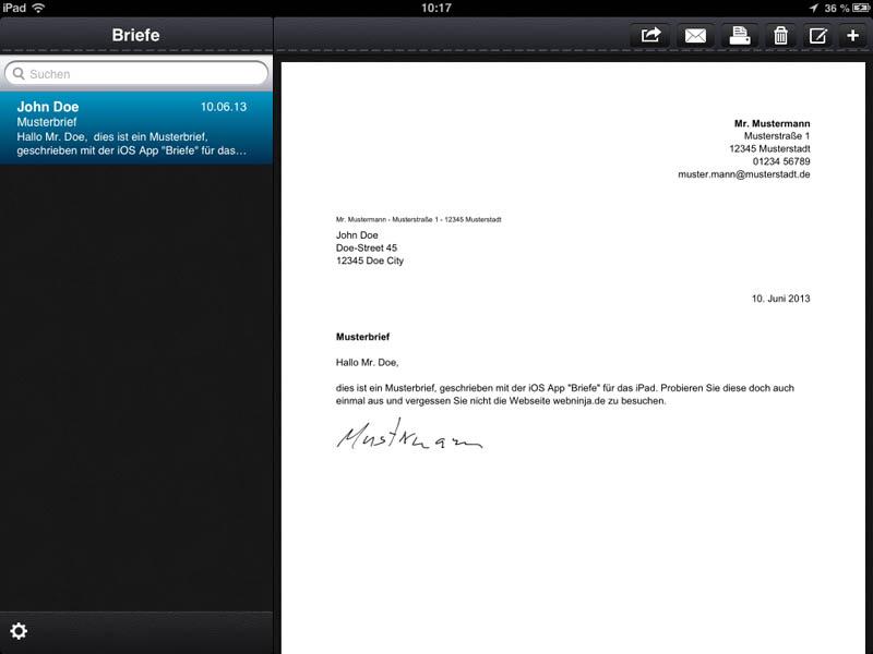 Briefe Schreiben Mit Tablet : Briefe schreiben mit der app webninja tech und
