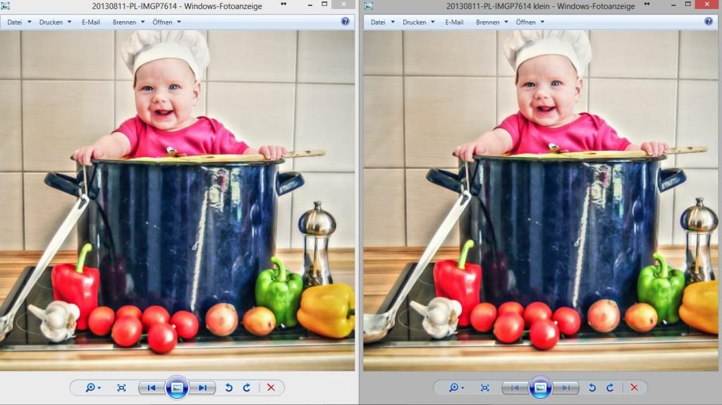 JPEGmini - Gegenüberstellung beider Versionen