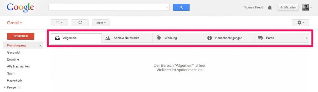 So sieht die aktuelle Einstellung nach Googles Umstellung aus.