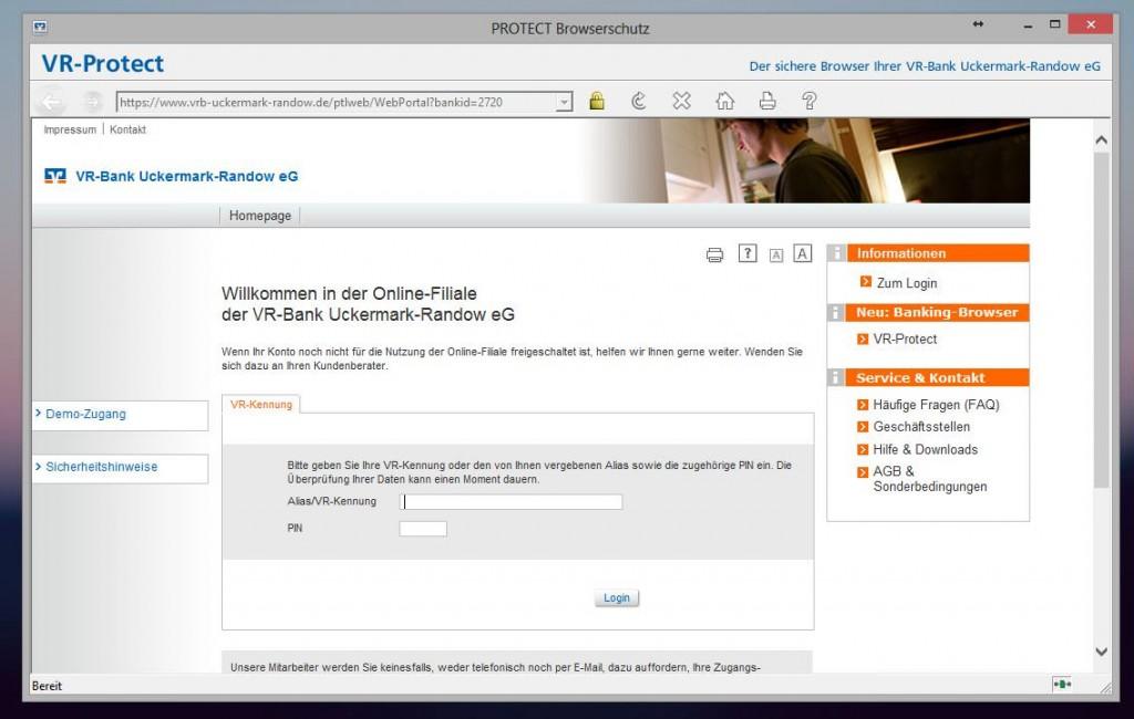 VR Protect Browserschutz Onlinebanking