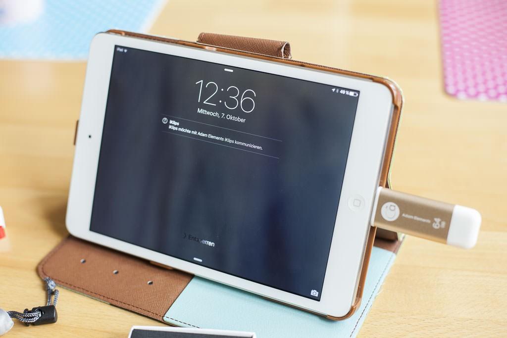 iKlips mit iPad mini Retina