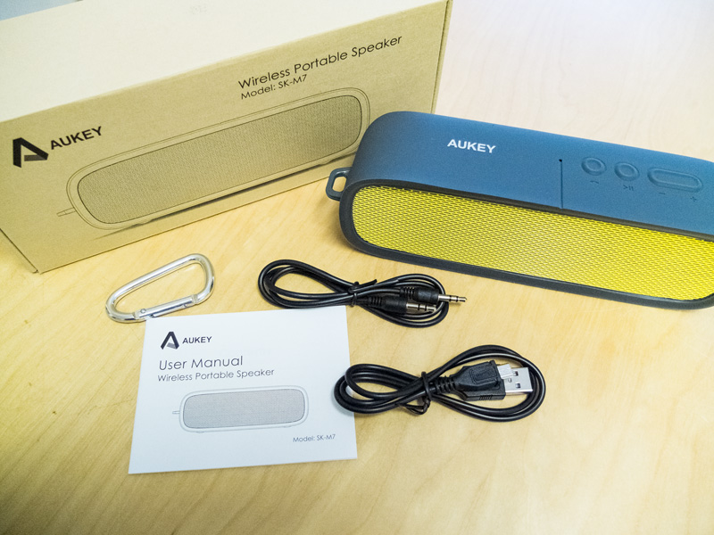 Aukey Bluetooth Box Lieferumfang